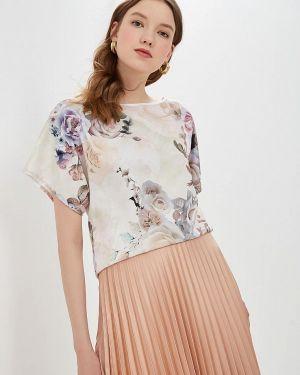 Блузка с коротким рукавом бежевый анна голицына