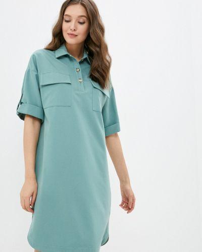 Платье рубашка - зеленое Grafinia