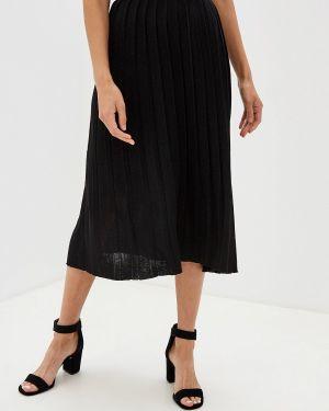 Плиссированная юбка черная осенняя Zarina
