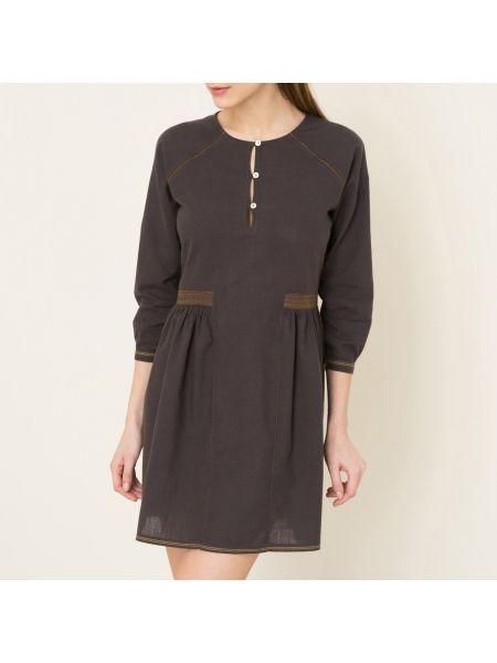 Платье макси длинное - черное Soeur