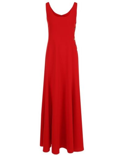 Платье макси с декольте на пуговицах Ralph Lauren