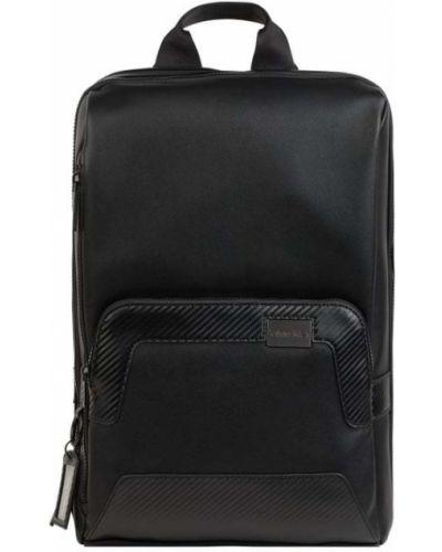 Czarny plecak na laptopa w paski Ck Calvin Klein