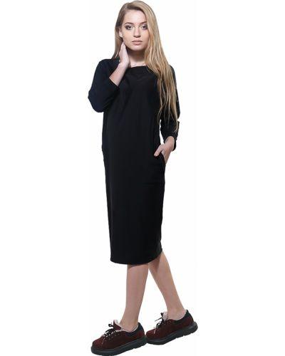 Черное зимнее платье Dasti