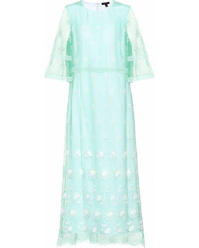 Платье из фатина с вышивкой Burberry