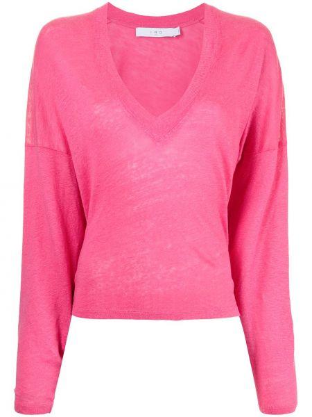 Розовая кофта с V-образным вырезом Iro
