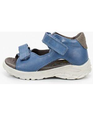 Синие кожаные сандалии Ecco