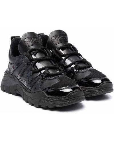 Czarne sneakersy koronkowe Gallucci Kids