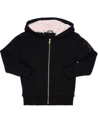 Bawełna nylon czarny kurtka prążkowany Moose Knuckles