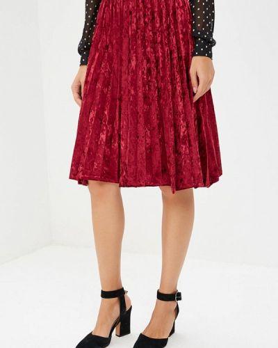 Плиссированная юбка итальянский красный Perfect J