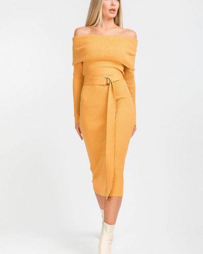 Прямое желтое платье А-силуэта Clever Woman Studio