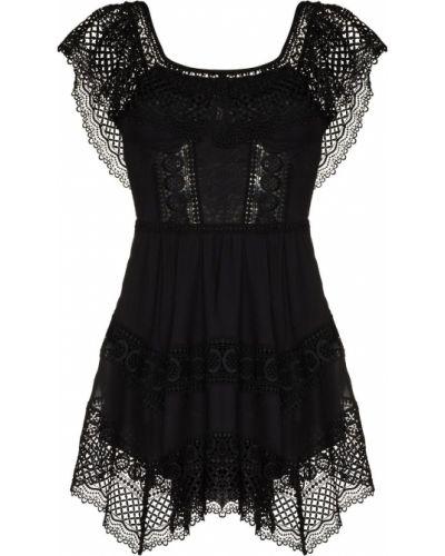 Гипюровое платье мини - черное Charo Ruiz Ibiza