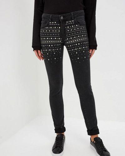 Черные джинсы-скинни узкого кроя Frankie Morello