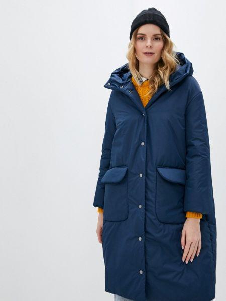 Теплая синяя утепленная куртка Sultanna Frantsuzova
