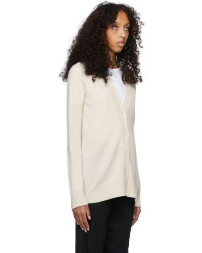 Biały z kaszmiru sweter S Max Mara