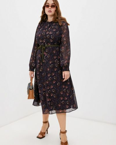 Фиолетовое зимнее платье Elena Miro