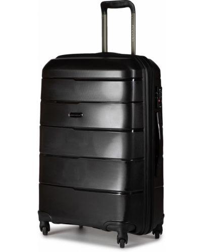 Czarna walizka średnia Puccini
