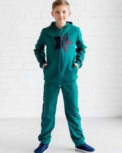 Хлопковый костюмный костюм с карманами с манжетами Looklie