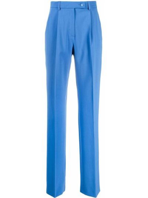 Шерстяные брюки - синие Alberta Ferretti