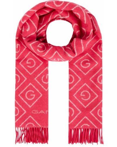 Różowa szal wełniana Gant
