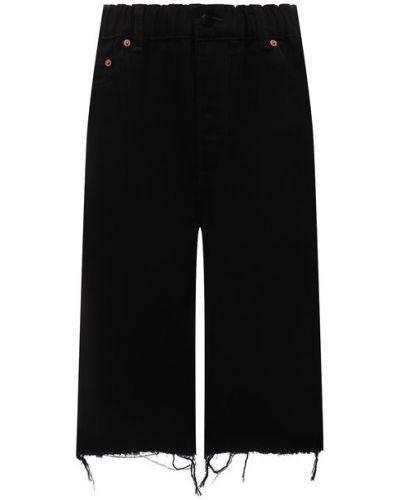 Джинсовые шорты - черные Denim X Alexander Wang