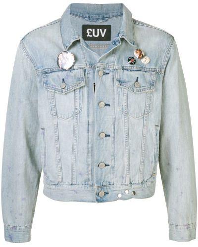 Джинсовая куртка на пуговицах укороченная Luv Collections