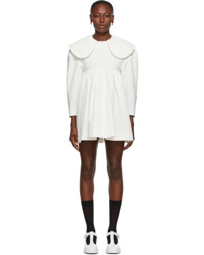 Biała sukienka mini z długimi rękawami Shushu/tong