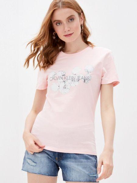 Поло розовый футбольный Calvin Klein Jeans