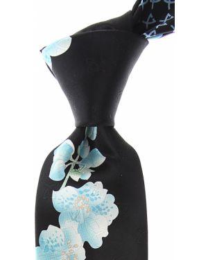 Czarny krawat z jedwabiu Leonard