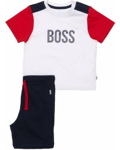 Трикотажная белая футболка с завязками Hugo Boss