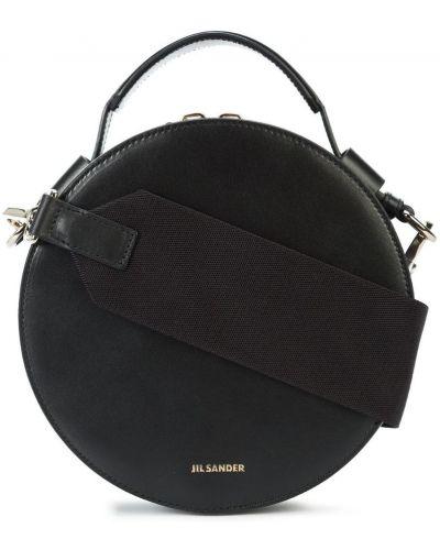 Кожаный сумка с ручками с логотипом Jil Sander