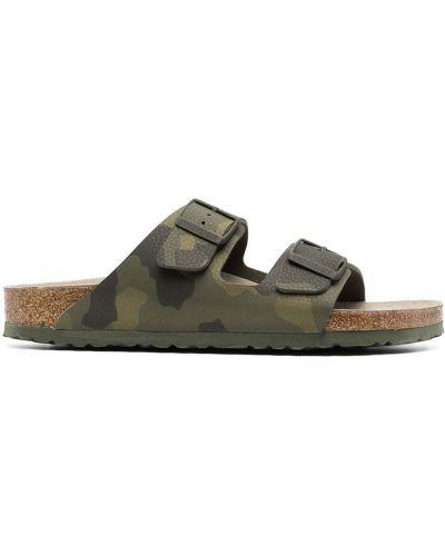 Открытые кожаные сандалии с пряжкой Birkenstock