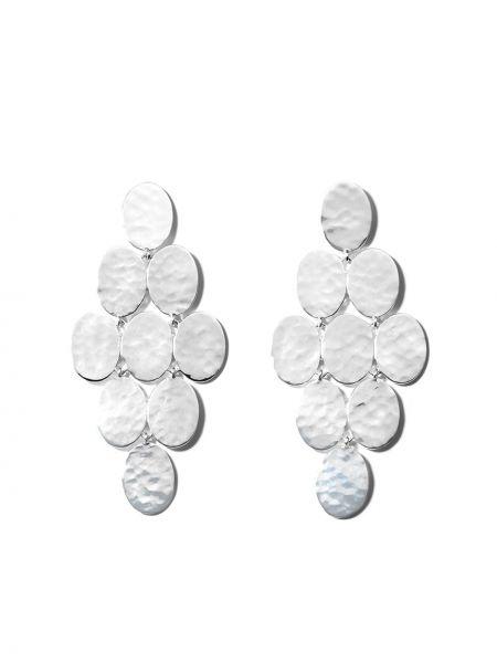 Серебряные серебряные серьги с подвесками с бабочкой Ippolita