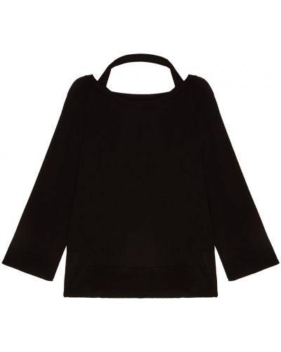 Черный свитер свободного кроя Prada