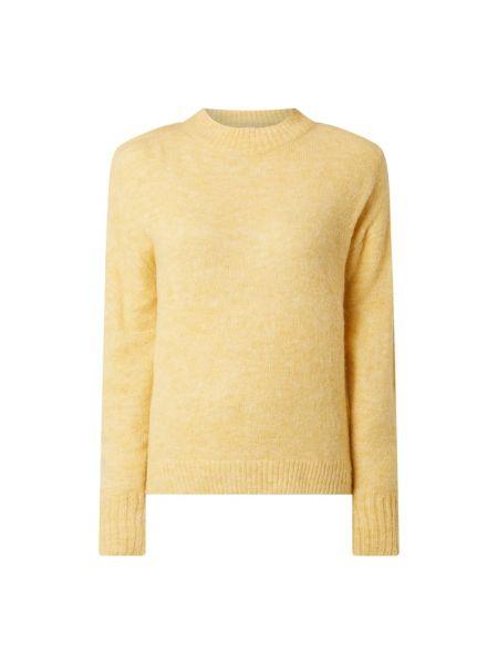 Prążkowany żółty sweter z nylonu Ichi