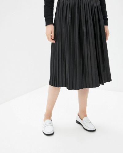Плиссированная черная юбка Zabaione