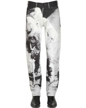 Czarne jeansy bawełniane perły Calvin Klein Established 1978