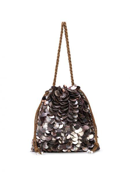 Шелковая сумка-тоут с пайетками Lizzie Fortunato Jewels