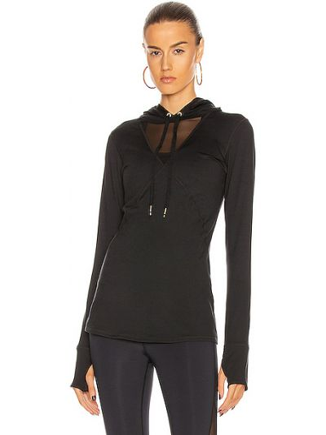 Czarna bluza z kapturem z siateczką Alala