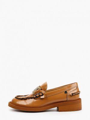Кожаные коричневые лоферы Tuffoni