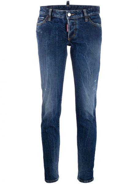 Укороченные джинсы с поясом с заклепками в стиле бохо Dsquared2