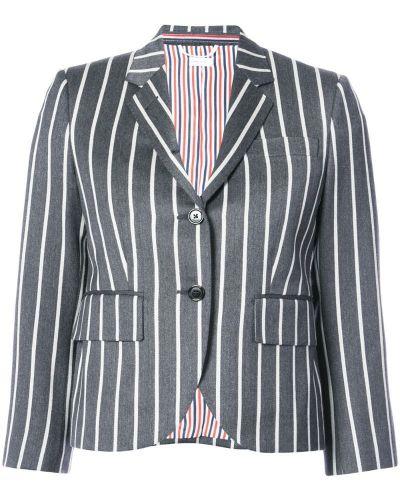 Укороченное пальто на кнопках прямое Thom Browne