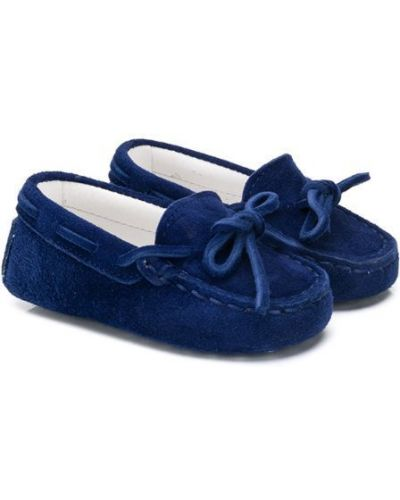Мокасины синие темно-синий Tod's Kids