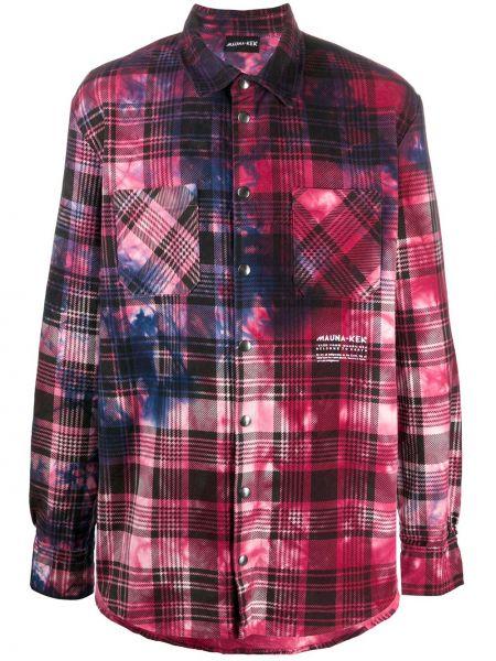 Розовая рубашка с воротником с манжетами на кнопках Mauna Kea