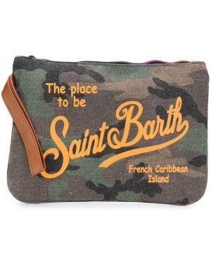 Torba sprzęgło brązowy z nadrukiem Mc2 Saint Barth