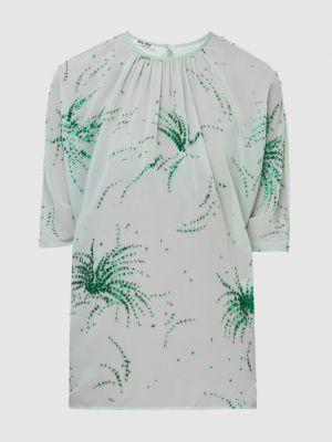 Зеленая блузка Miu Miu