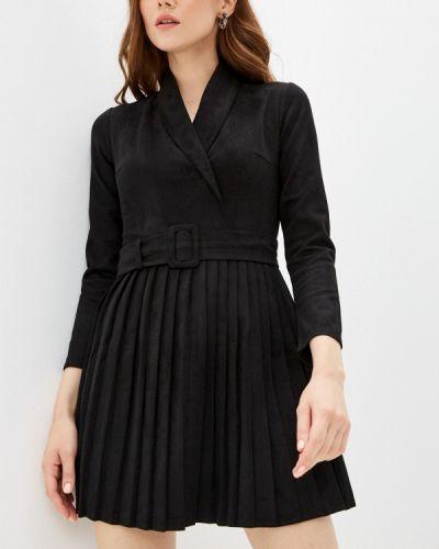 Черное платье на запах Hey Look