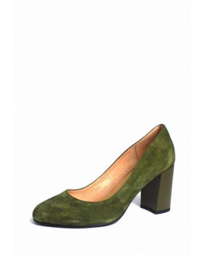 Туфли на каблуке замшевые зеленый Blizzarini