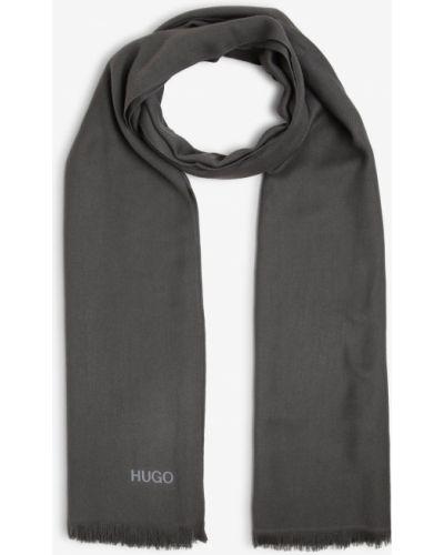Szary szalik z frędzlami Hugo
