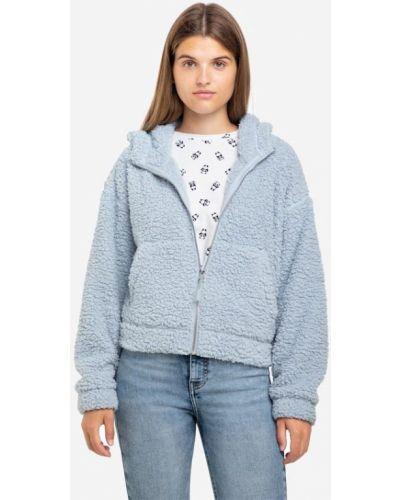 Джинсовая куртка с капюшоном - голубая Gloria Jeans