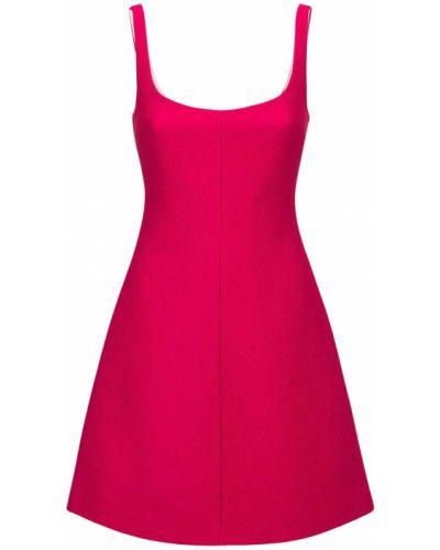 Платье мини фуксия на молнии Emilia Wickstead